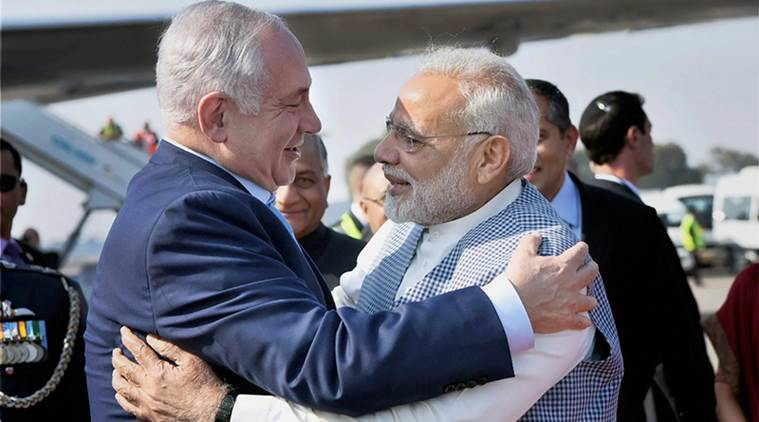 Israeli PM arrives in Delhi
